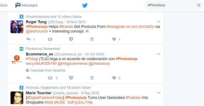 Monitoring social shopping via Twitter