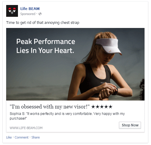 Life BEAM Facebook Ad Examples
