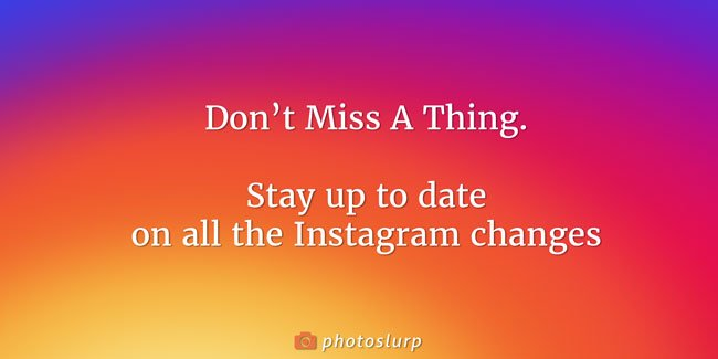 Instagram Changes